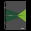 Kép 1/6 - Spirálfüzet LEITZ Office A/5 karton borítóval 90 lapos vonalas zöld
