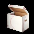 Kép 1/2 - Archiváló konténer ESSELTE Standard karton felfelé nyíló fehér 398x302x280mm