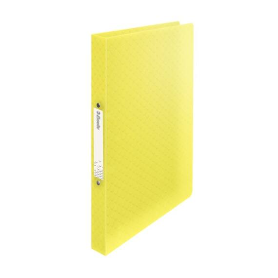 Gyűrűskönyv ESSELTE Colour`Ice A/4 PP 2R 25mm sárga