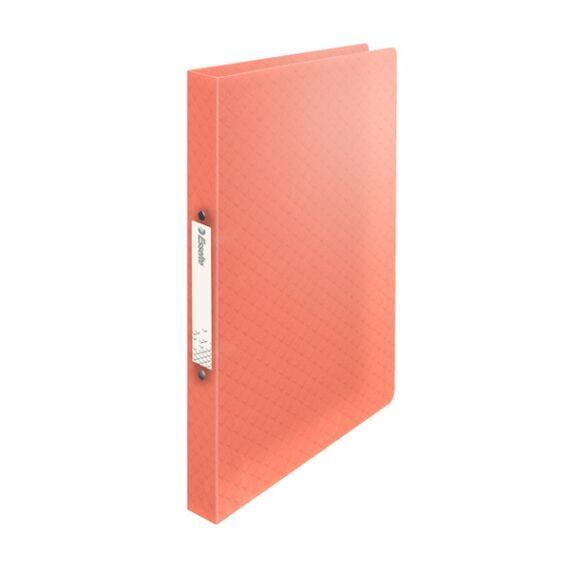 Gyűrűskönyv ESSELTE Colour`Ice A/4 PP 2R 25mm barack