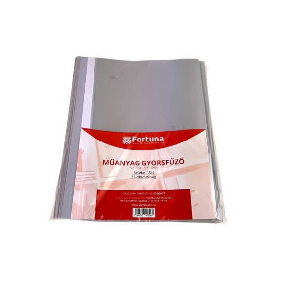 Gyorsfűző FORTUNA műanyag szürke 25 db/csomag