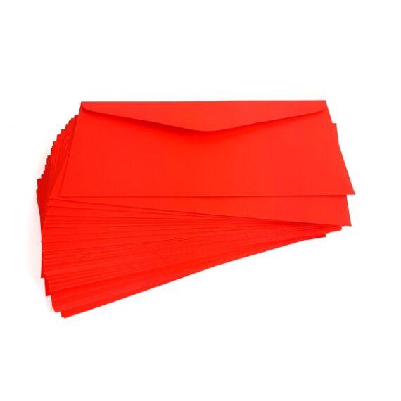 Boríték színes KASKAD LA/4 enyvezett 110x220mm 29 vörös 50 db/csomag