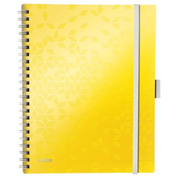 Spirálfüzet LEITZ Wow Active A/4 80 lapos vonalas sárga