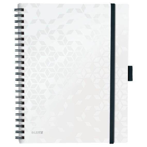 Spirálfüzet LEITZ Wow Active A/4 80 lapos kockás fehér
