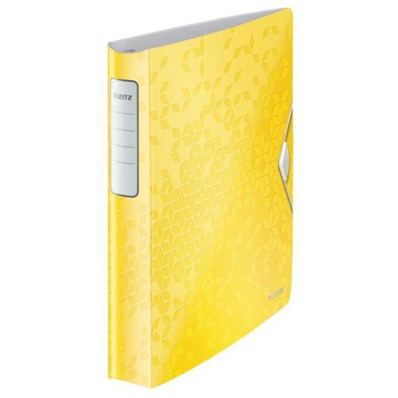 Gyűrűskönyv LEITZ Active Wow A/4 52mm 4 gyűrű sárga