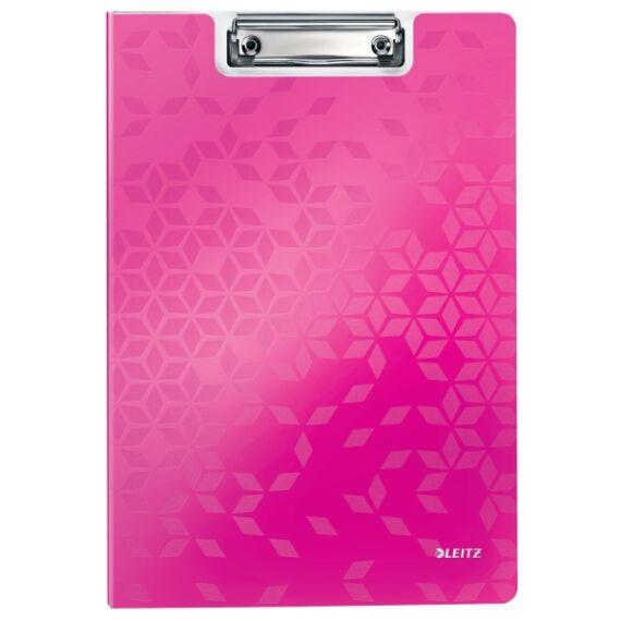 Felírótábla LEITZ Wow A/4 kemény műanyag fedeles rózsaszín