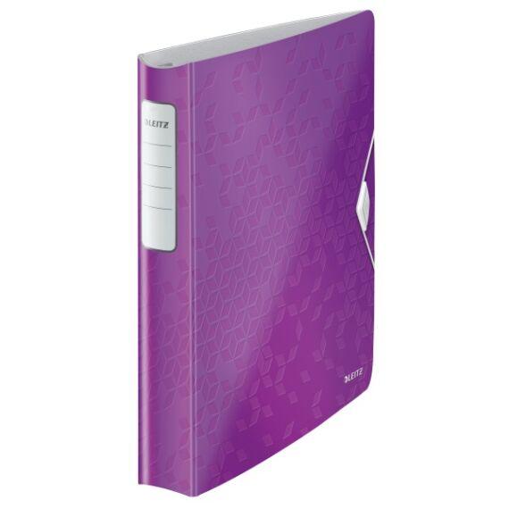 Gyűrűskönyv LEITZ Active Wow A/4 52mm 4 gyűrű lila