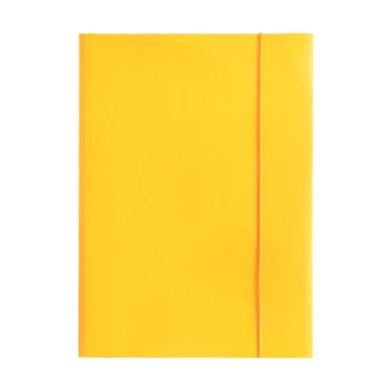 Gumismappa OPTIMA A/4 sárga 400gr