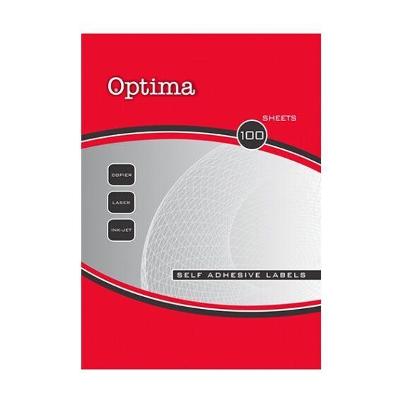 Etikett OPTIMA 32093 70x67,6mm 1200 címke/doboz 100 ív/doboz