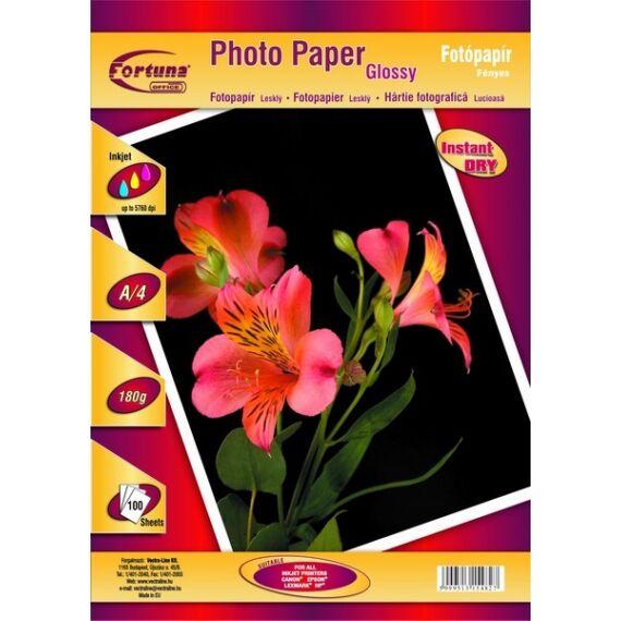 Fotópapír FORTUNA A/4 inkjet fényes 180 gr 100 ív/csomag + ajándék 10ív