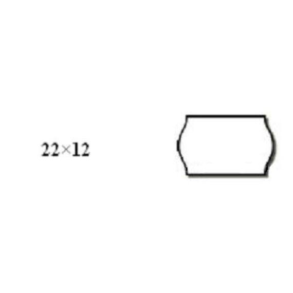 Árazószalag FORTUNA 22x12mm perforált fehér 10 tekercs/csomag