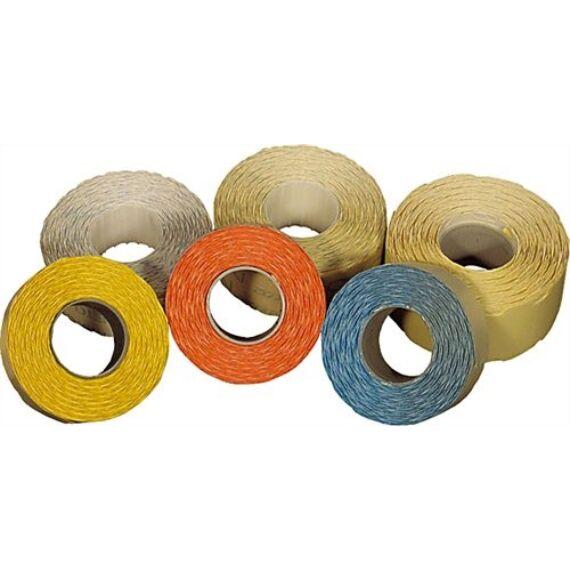 Árazószalag FORTUNA 25x16mm perforált sárga 10 tekercs/csomag