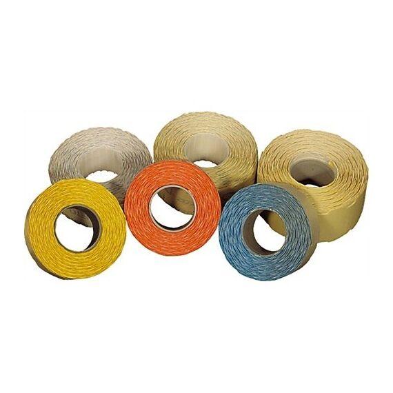 Árazószalag FORTUNA 22x12mm perforált narancs 10 tekercs/csomag