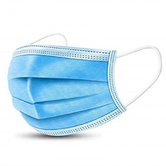 Szájmaszk orvosi 3 rétegű sterilizált 3 db-os kék