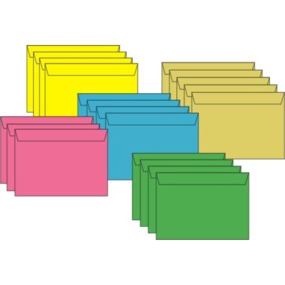Boríték színes KASKAD LC/6 enyvezett 114x162mm 19 dió 50 db/csomag