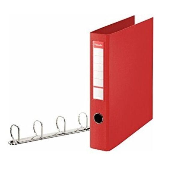 Gyűrűskönyv ESSELTE Jumbo Vivida 58mm 4 gyűrű piros