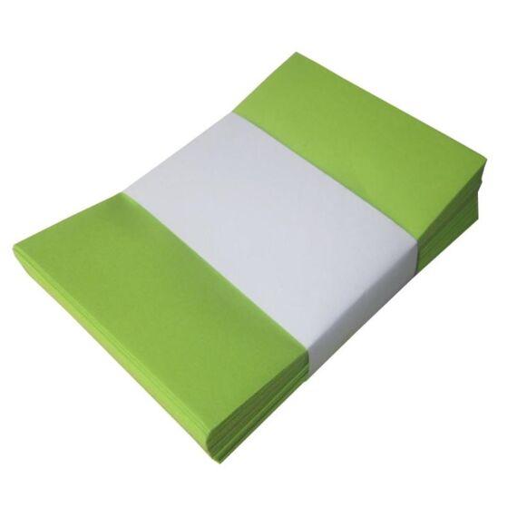 Névjegyboríték színes KASKAD enyvezett 70x105mm 66 lime zöld 50 db/csomag