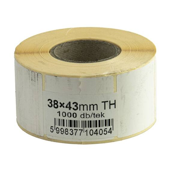 Etikett tekercses thermo 43 x 38mm