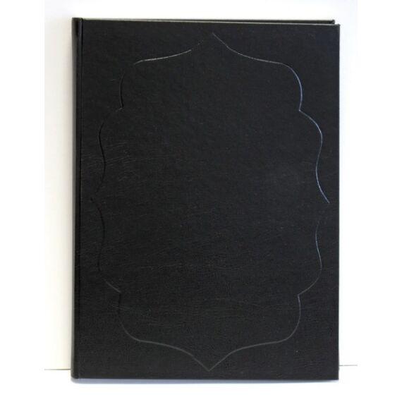 Vendégkönyv A/4 160 lapos sima fekete