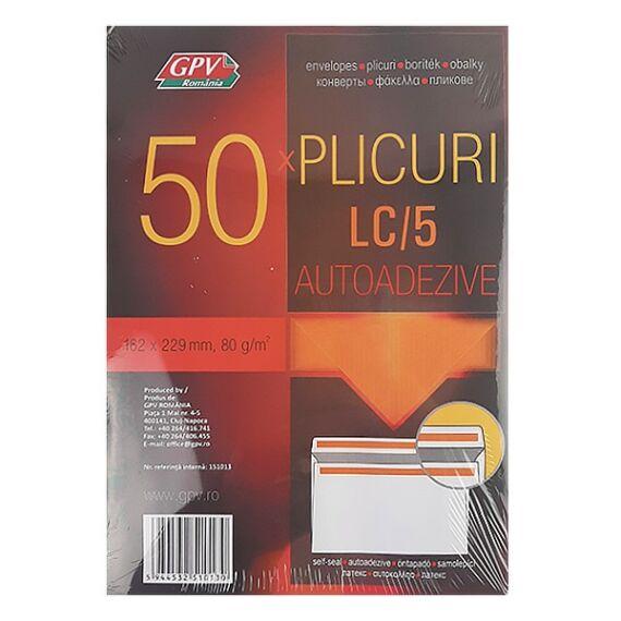 Boríték GPV LC/5 öntapadós bélésnyomott 162x229mm 50 db/csomag