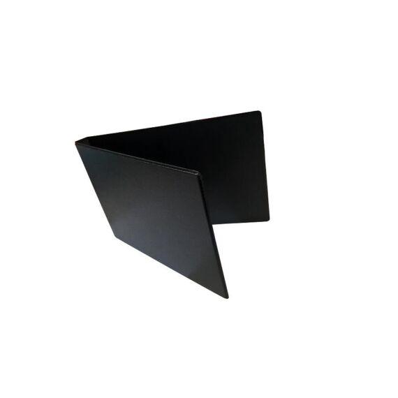 Mappa villámzáras A/5 pvc fekvő fekete