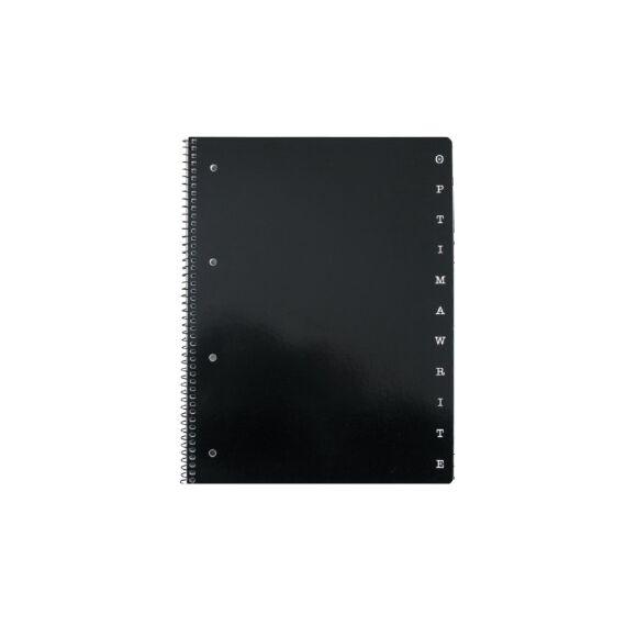 Spirálfüzet OPTIMA A/4 80 lapos perforált lyukasztott kockás