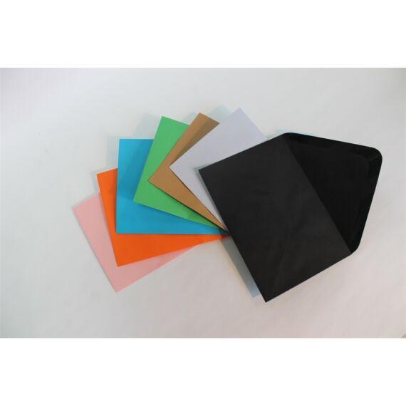 Boríték színes KASKAD LC/6 enyvezett 114x162mm 99 fekete 50 db/csomag