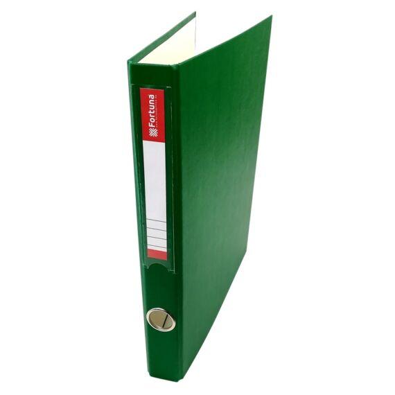 Gyűrűskönyv FORTUNA A/4 35mm 4 gyűrű zöld