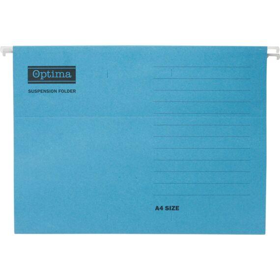 Függőmappa OPTIMA A/4 kék 25db/csomag