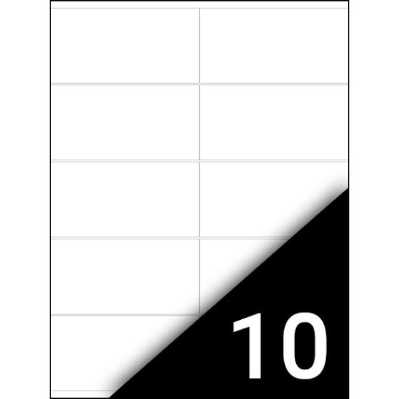 Etikett FORTUNA 105x57mm univerzális 1000 címke/doboz 100 ív/doboz