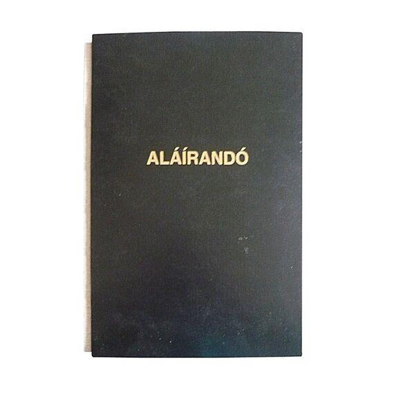 Aláírandókönyv A/4 fekete