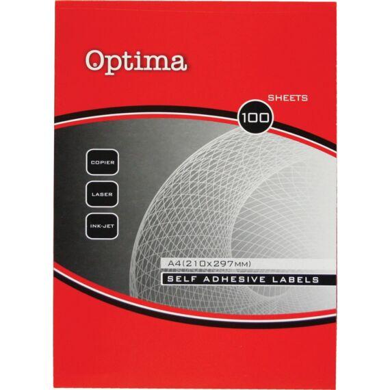 Etikett OPTIMA 32108 kör 40mm 2400 címke/doboz 100 ív/doboz