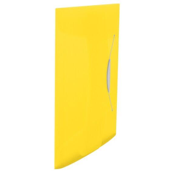 Gumis mappa ESSELTE Vivida A/4 műanyag sárga