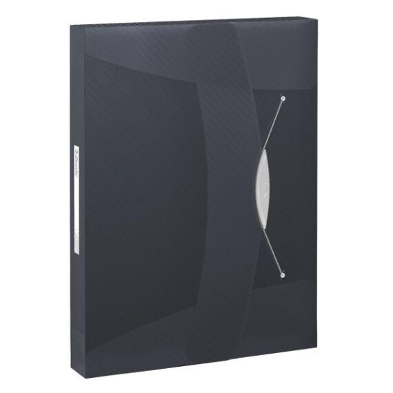 Gumis mappa ESSELTE Vivida Jumbo A/4 műanyag 40mm fekete