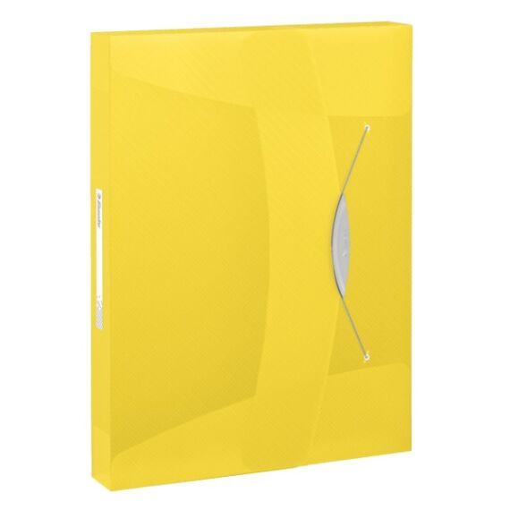 Gumis mappa ESSELTE Vivida Jumbo A/4 40mm sárga