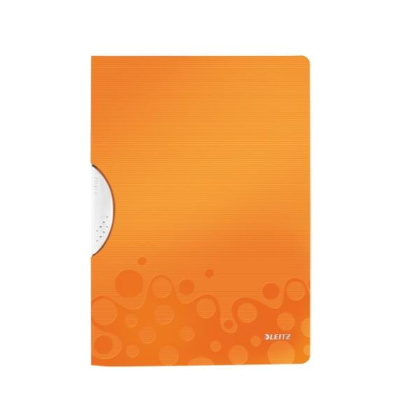 Gyorsfűző LEITZ Wow Colorclip A/4 narancs