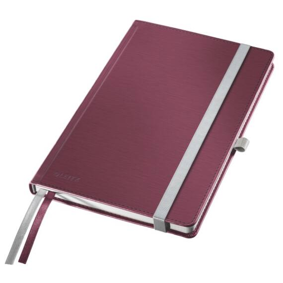 Jegyzetfüzet LEITZ Style A/5 80 lapos kockás gránátvörös