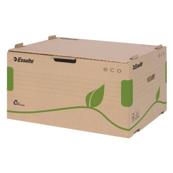 Archiváló konténer ESSELTE eco előre nyíló tetővel barna