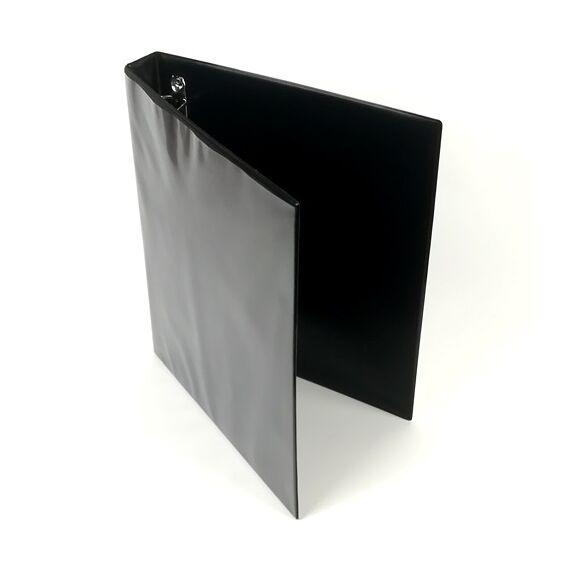Gyűrűskönyv panorámás 40mm 4 gyűrű D25 fekete