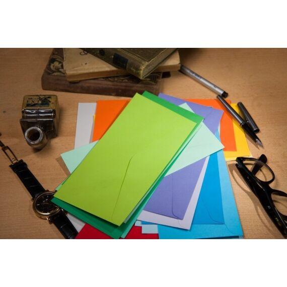 Boríték színes KASKAD LA/4 enyvezett 110x220mm 13 krém 50 db/csomag