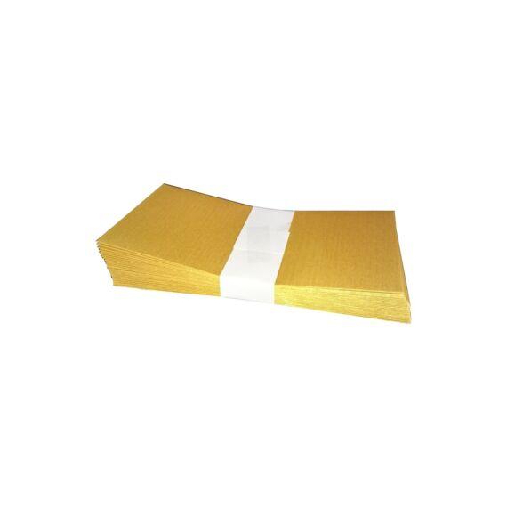 Boríték színes KASKAD LA/4 szilikonos 110x220mm 120gr arany 25 db/csomag