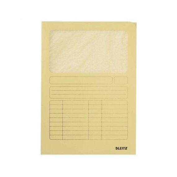 Mappa LEITZ karton ablakos sárga
