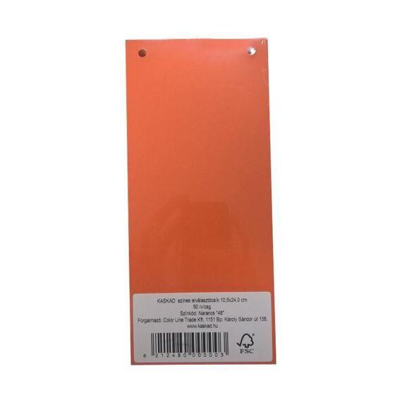 Elválasztócsík KASKAD 105x240mm 160 gr 48 narancssárga 50 db/csomag