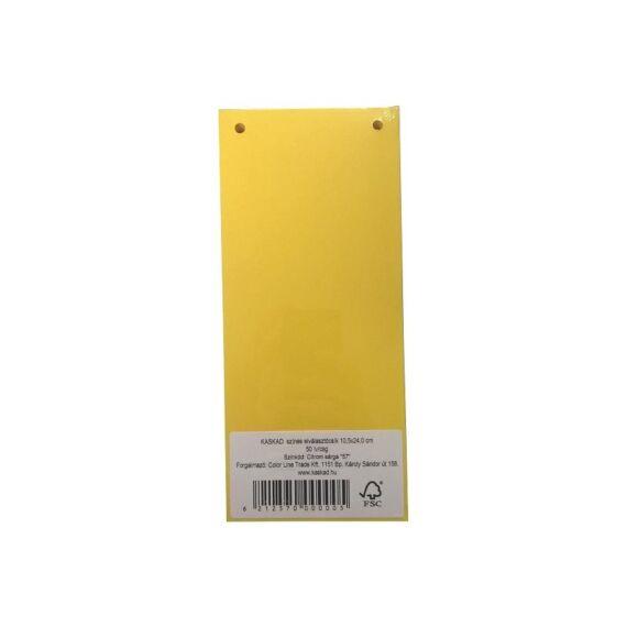 Elválasztócsík KASKAD 105x240mm 160 gr 57 citromsárga 50 db/csomag