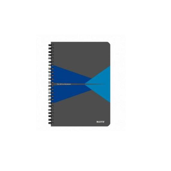 Spirálfüzet LEITZ Office A/5 PP borítóval 90 lapos vonalas kék