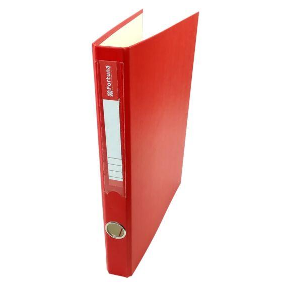 Gyűrűskönyv FORTUNA A/4 35mm 4 gyűrű piros