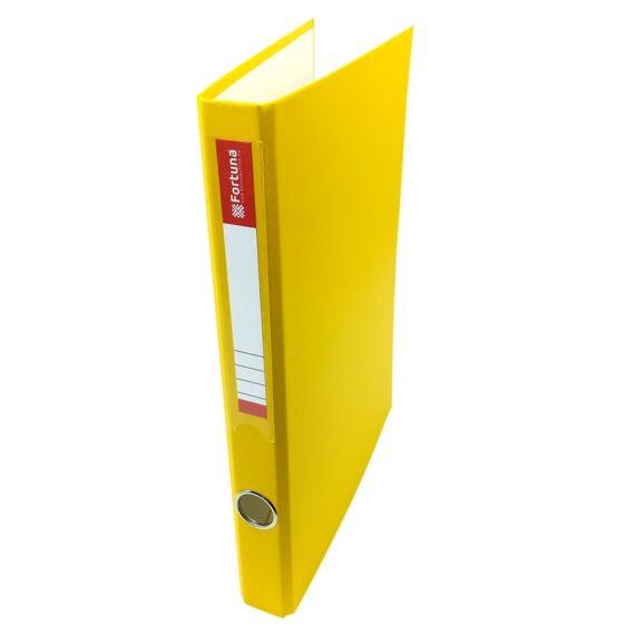 Gyűrűskönyv FORTUNA A/4 35mm 4 gyűrű sárga