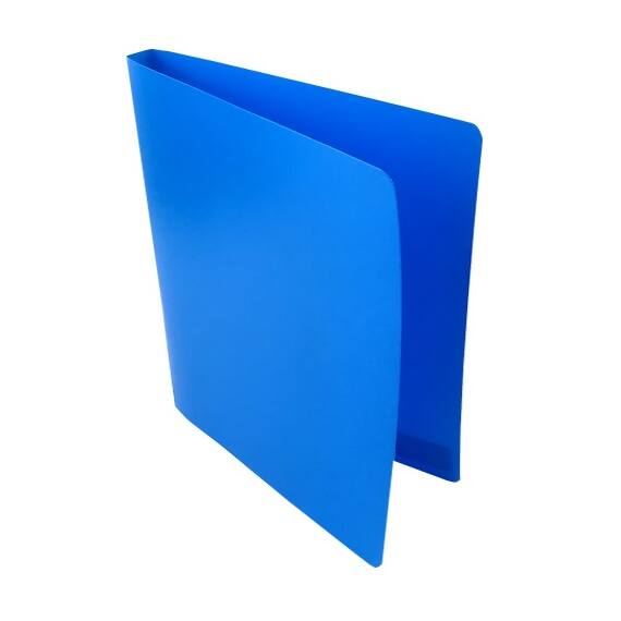 Gyűrűskönyv A/4 PP 20mm 2 gyűrű átlátszó kék