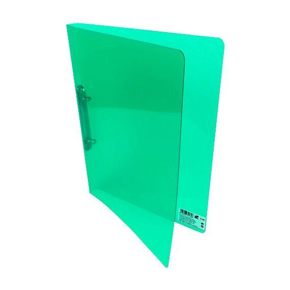 Gyűrűskönyv A/4 PP 20mm 2 gyűrű átlátszó zöld