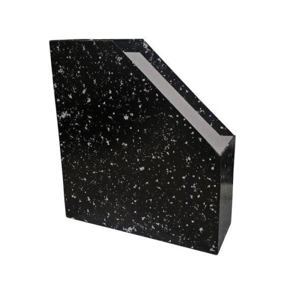 Irattartó papucs fekete márvány mintás